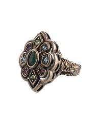 Gucci | Metallic Crystal And Palladium-plated Ring | Lyst