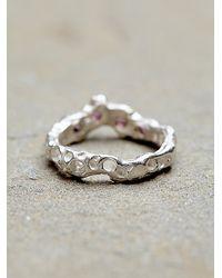 Free People | Pink Alexandra Dodds Womens Sunken Stones Ring | Lyst
