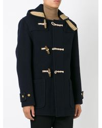 Gloverall - Blue 'mid Monty' Duffle Coat for Men - Lyst