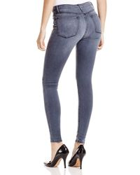 Black Orchid Gray High Rise Skinny Jeans In Never Too Slate