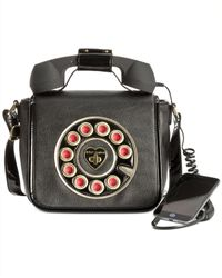 Betsey Johnson Black Phone Crossbody