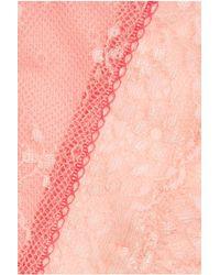 Elle Macpherson | Orange Dentelle Lace And Stretch-Mesh Briefs | Lyst