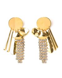 Lizzie Fortunato | Yellow Souk Disk Tassel Earrings | Lyst