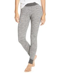 UGG | Gray Averell Slub-Knit Leggings | Lyst