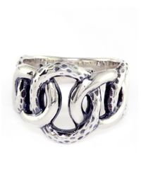 Lord & Taylor | Metallic Balissima Sterling Silver Circle Link Ring | Lyst