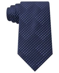 Sean John - Blue Opt Geo Unsolid Solid Tie for Men - Lyst