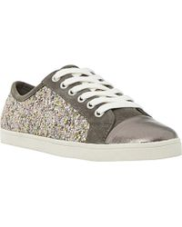 Dune Metallic Ennis Lace-Up Trainers - For Women