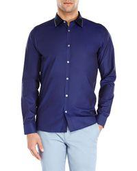 Ted Baker - Blue Navy Woven Sport Shirt for Men - Lyst