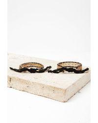 Forever 21 | Metallic Threaded Bead Bracelet Set | Lyst