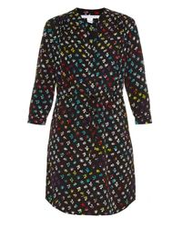 Diane von Furstenberg | Multicolor Freya Silk-Blend Dress | Lyst