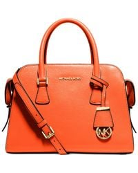 Michael Kors | Orange Michael Harper Medium Satchel | Lyst