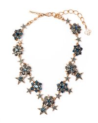 Oscar de la Renta | Green Swarovski Crystal Star Necklace | Lyst