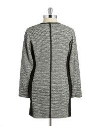 Calvin Klein Black Plus Tweed Double-breasted Coat