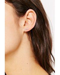 Adina Reyter Metallic Pave Diamond Bar Post Earring