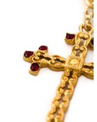 Dolce & Gabbana | Metallic Crucifix Charm Pendant Necklace | Lyst