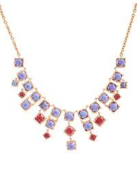 Larkspur & Hawk Metallic Gold And Topaz Bella Necklace