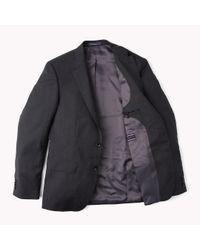 Tommy Hilfiger Black Single Breasted Virgin Wool Blazer for men