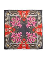 Givenchy Multicolor Paradise Flower Printed Modal and Cashmereblend Scarf