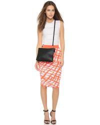 Clare V. Black Double Sac Bretelle Cross Body Bag