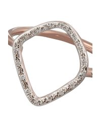 Monica Vinader - Pink Riva Rose Gold-Plated Diamond Ring - Lyst