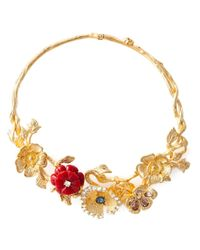 Alexander McQueen | Metallic Cherry Blossom Necklace | Lyst