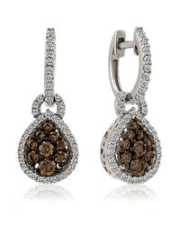Le Vian | Metallic 14kt White Gold And Diamond Drop Earrings | Lyst