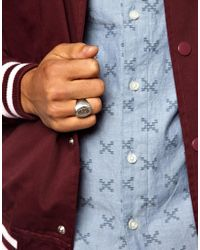 Stussy | Metallic Logo Ring for Men | Lyst