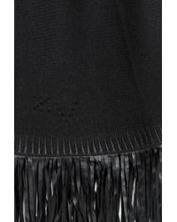 Zadig & Voltaire - Black Fringed Knit Cardigan - Lyst