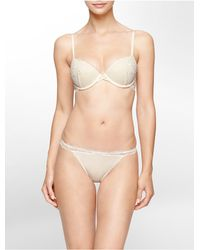 Calvin Klein | Natural Underwear Ck Black Sensual Push-up Bra | Lyst