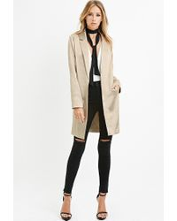 Forever 21 - Contemporary Longline Metallic Blazer - Lyst