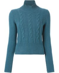 Marni - Blue Cable Knit Sweater - Lyst