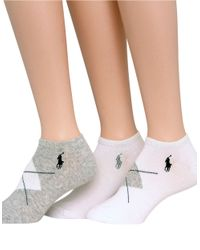 Pink Pony | Gray 3-pack Argyle Polo Sport Socks | Lyst