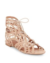 Joie | Natural Renee Caged Leather Gladiator Sandals | Lyst