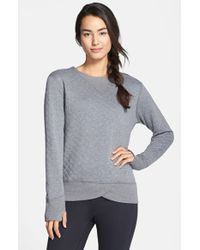 Brooks | Gray 'fly-by' Quilted Running Sweatshirt | Lyst