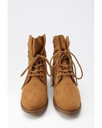Forever 21 | Brown Faux Suede Ankle Booties | Lyst