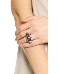 Joomi Lim - Metallic Modern Muse Crystal And Sphere Ring Set - Ruthenium/Rose Gold - Lyst