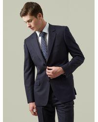 Aquascutum Black Twill Suit Jacket for men