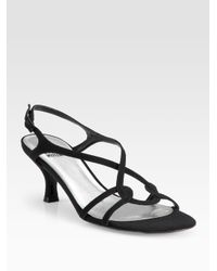 Stuart Weitzman | Black Reversal Strappy Peau De Soie Sandals | Lyst