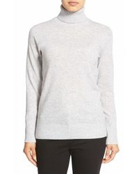 Nordstrom Collection Gray Cashmere Turtleneck Sweater