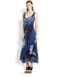 Jean Paul Gaultier | Blue Patchworkprint Handkerchief Dress | Lyst