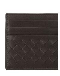 Bottega Veneta Black Intrecciato Nappa Leather Card Holder