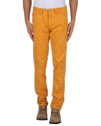 Jaggy Orange Casual Trouser for men
