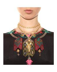 Valentino Metallic Scorpio Pendant Necklace