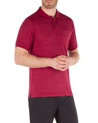 Racing Green | Pink Francis Jacquard Spot Polo Shirt for Men | Lyst