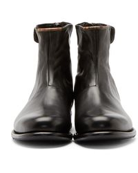 PS by Paul Smith Black Leather Claude Boots for men