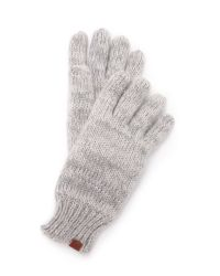 Bickley + Mitchell - Gray Knit Gloves - Lyst