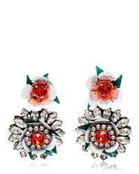 Shourouk | White Flower Earrings | Lyst