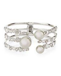 Alexis Bittar | Metallic Broken Glass Pearly Open Cuff Bracelet | Lyst