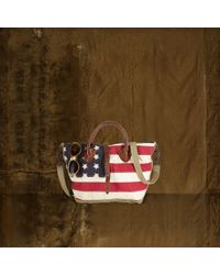 Denim & Supply Ralph Lauren Red Flag-Camo Canvas Shoulder Bag