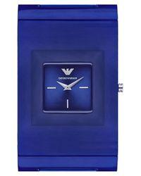 Emporio Armani Blue Square Bracelet Watch